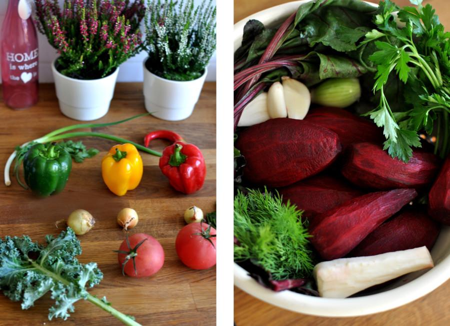 Jesienne gotowanie. Warzywa na sałatkę oraz warzywa na zupę z botwiny. bebuszka.pl
