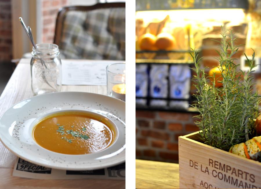 Jesień w Loft 7 Koszalin. Zupa krem z marchewki. Dekoracje jesienne. bebuszka