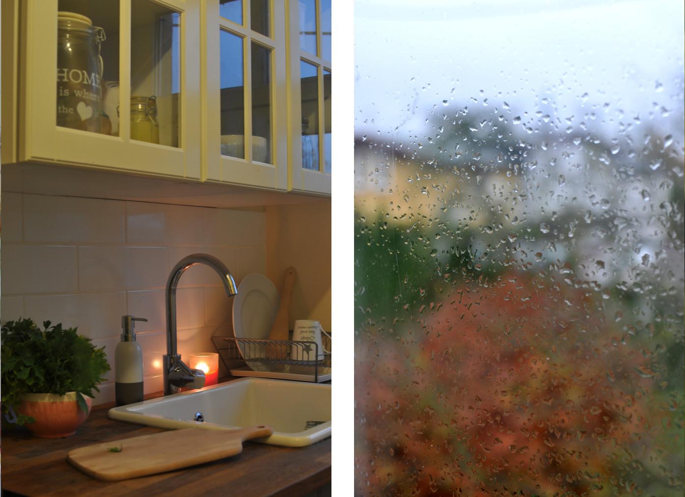 Jesień. Jesienne gotowanie. Deszcz.