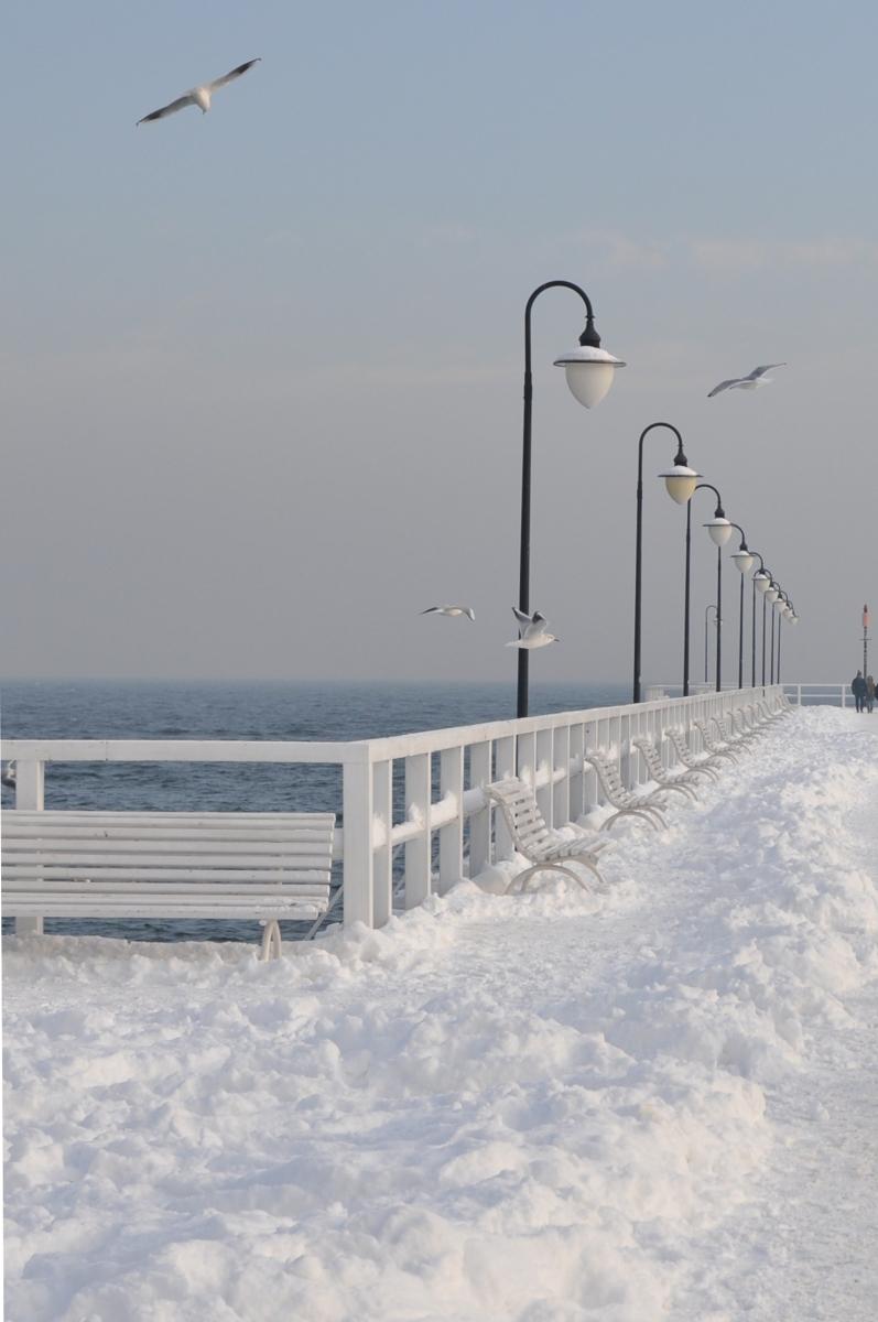 Molo zimą - Gdynia Orłowo