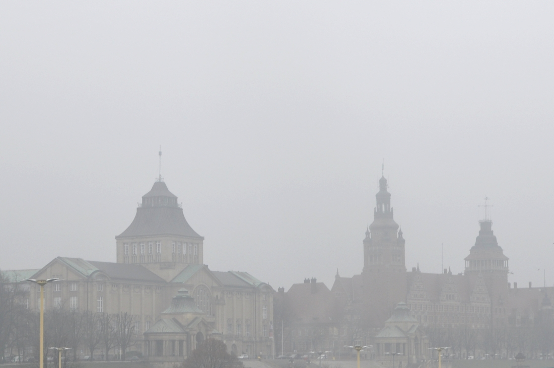 Szczecin zimą. bebuszka