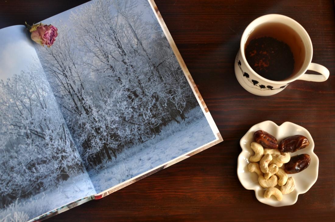 Slowlife. Zima w domu. Książka i ciepła herbata. bebuszka