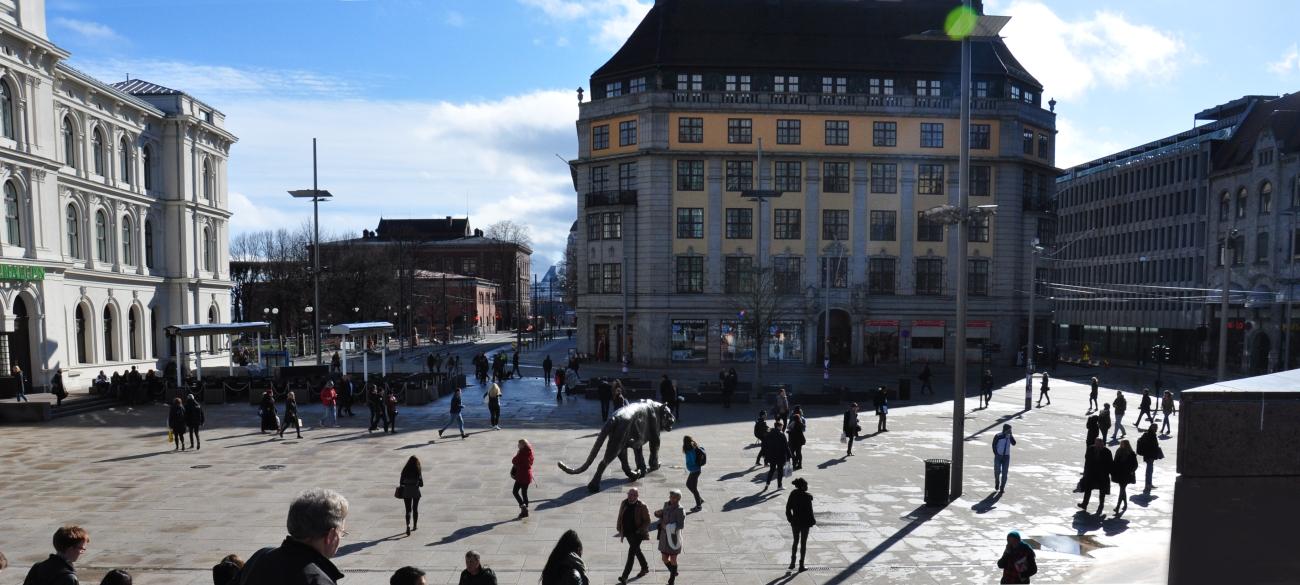 Oslo centrum miasta bebuszka
