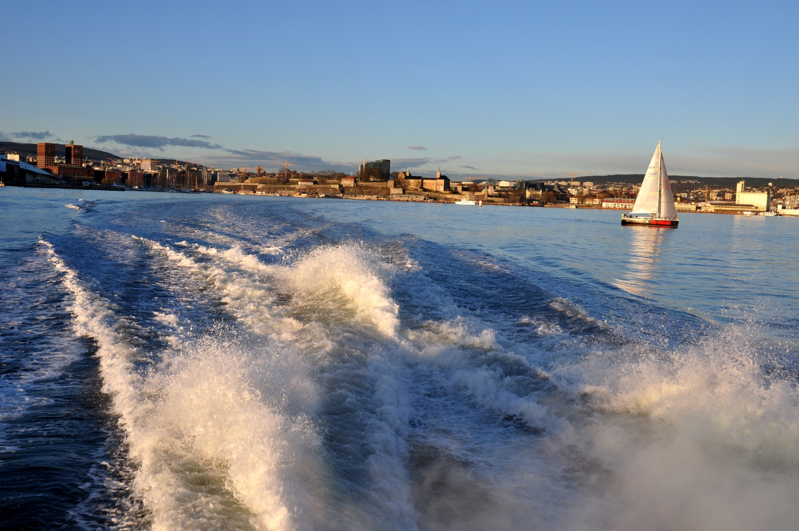 Oslo widoki prom panorama