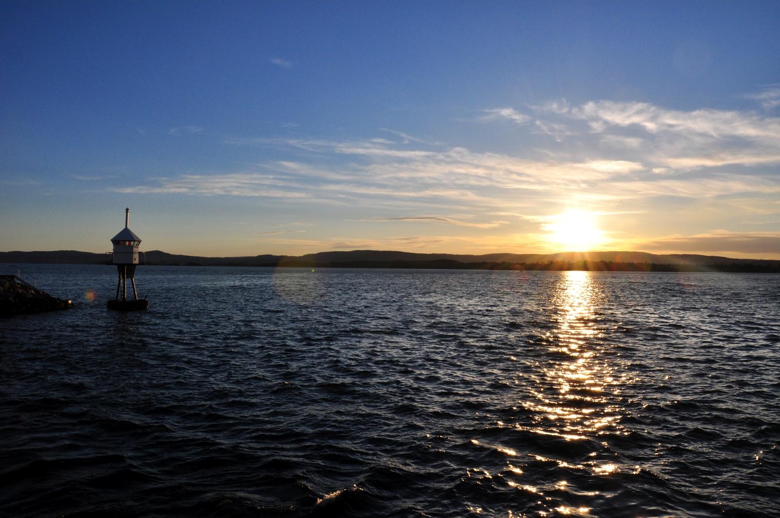 Oslo wyspa zachód słońca