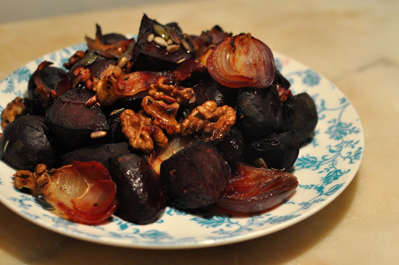 slowfood przepisy, pieczone buraki, zdrowe jedzenie, pieczone warzywa