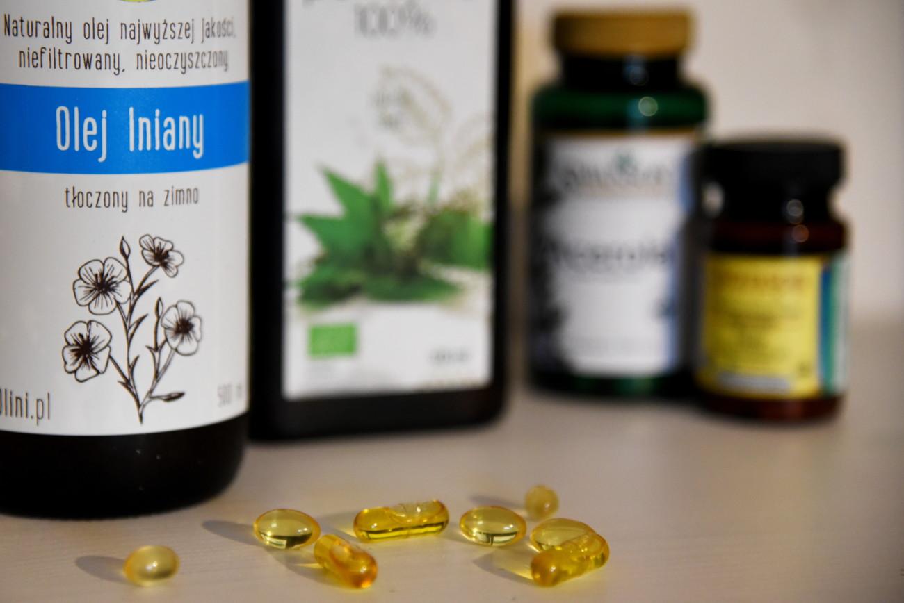 zdrowa suplementacja, olej lniany